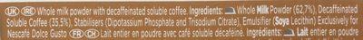 Dolce Gusto cortado decaffeinato - Ingredients - en