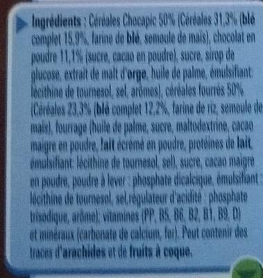 Chocapic Cœur Fondant - Ingrédients