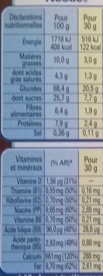 Chocapic Cœur Fondant - Nutrition facts