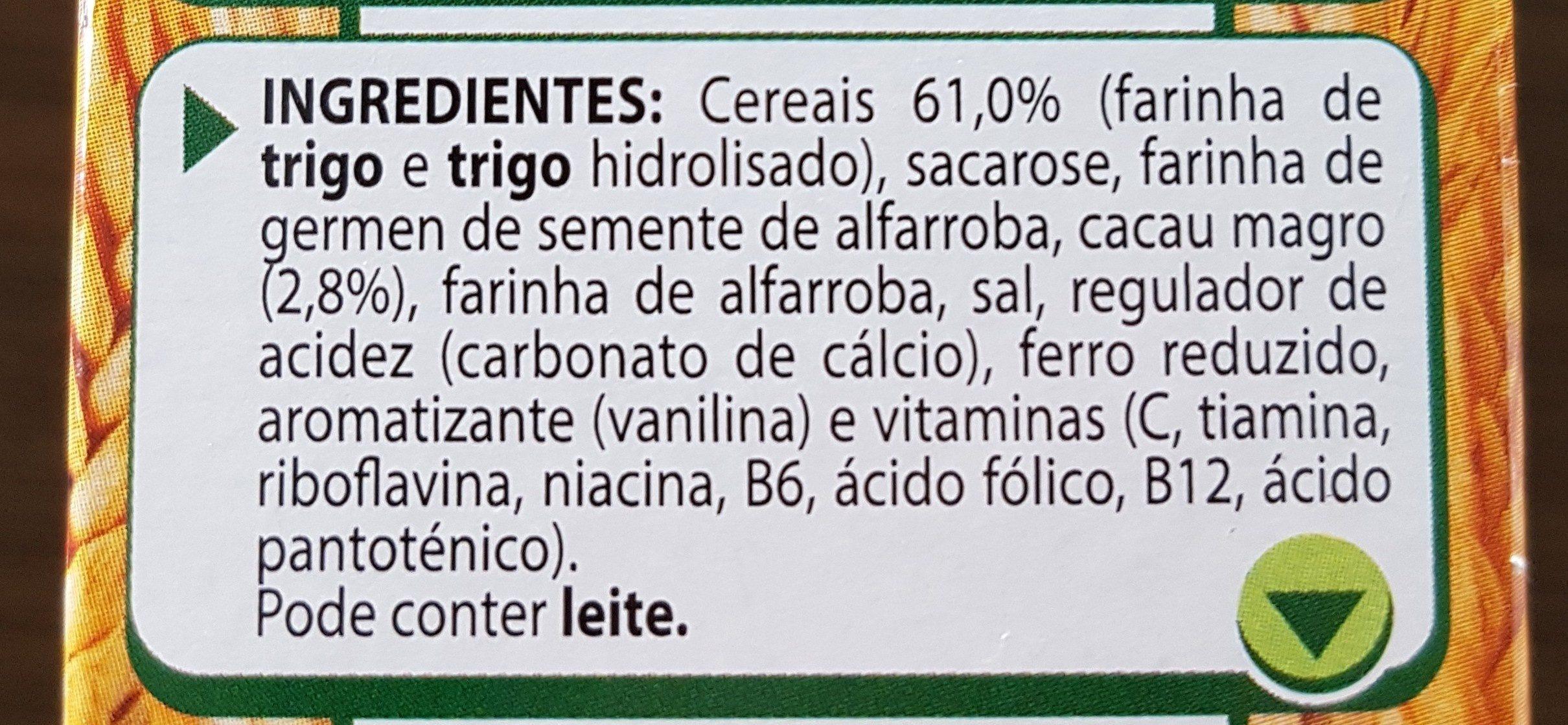 Pensal farinha com cacau - Ingrédients - fr