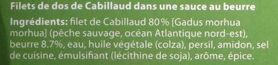 2 Gourmet Filets Au Citron Findus - Ingrédients