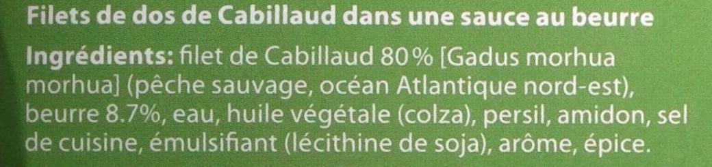 2 Gourmet Filets Au Citron Findus - Ingredients