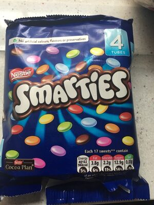 Smarties 4 Pack 152G - Ingredients