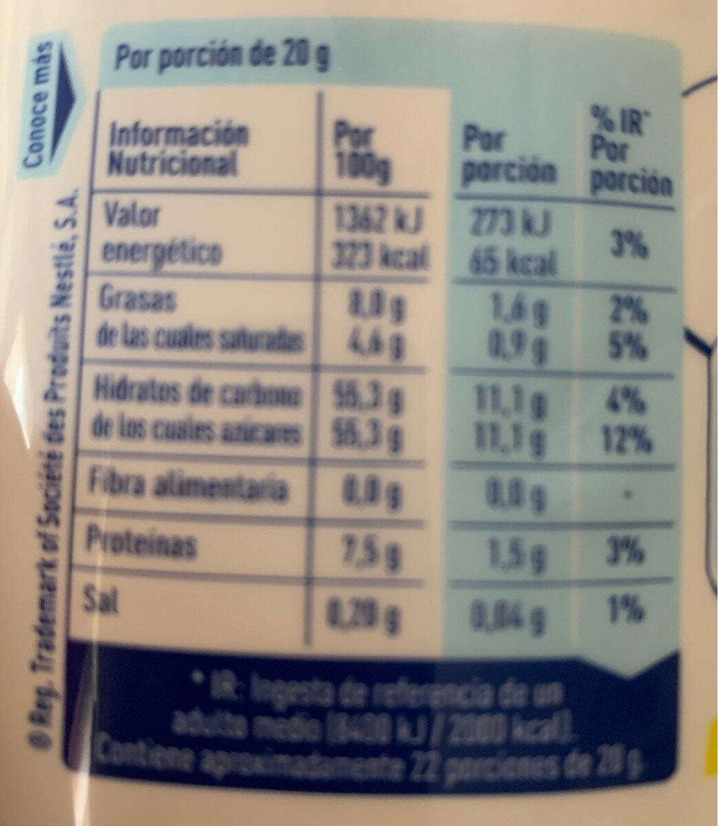 Nutricia - Informations nutritionnelles - en
