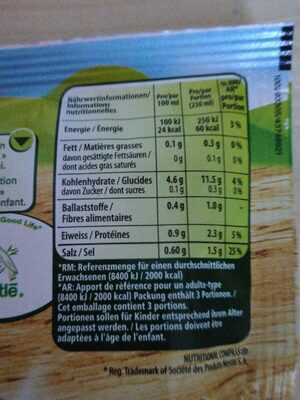 Buurehofsuppe - Nutrition facts