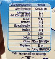 P'tit Gourmand - Laitage Vanille Caramel P'tit Gourmand - Informations nutritionnelles