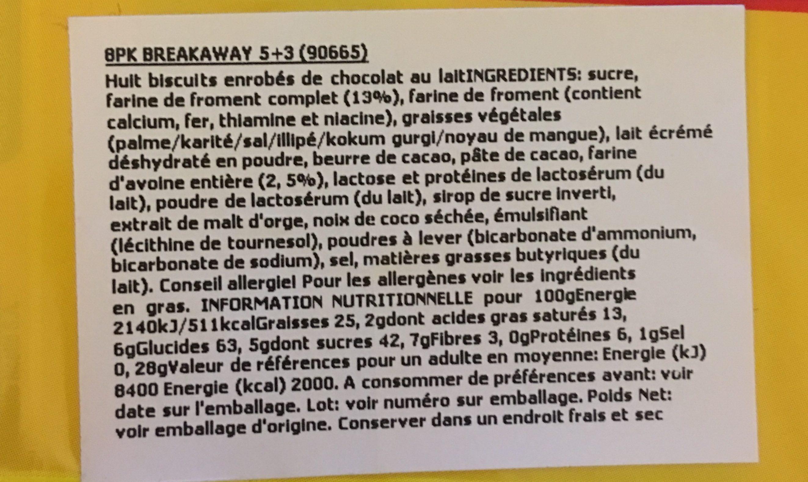 Breakaway 5 + 3 Free Pack - Ingrédients - fr