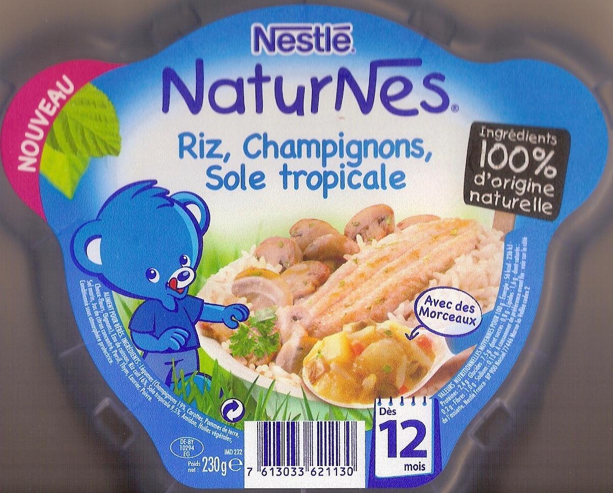 NaturNes riz, champignons, sole tropicale - Product