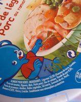 NATURNES Mijoté de Légumes et Porc au Romarin - 230g - Dès 12 mois - Ingredienti - fr
