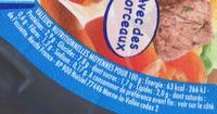 NaturNes Mijoté de légumes, boeuf - Valori nutrizionali - fr