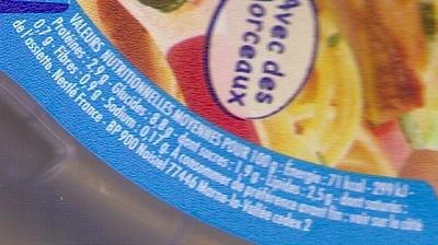 Ratatouille, Agneau aux herbes de Provence dès 12 mois - Valori nutrizionali - fr