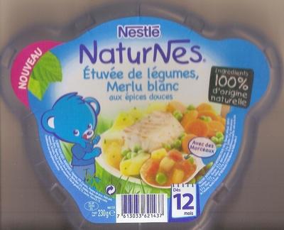 NaturNes Etuvée de légumes, Merlu blanc aux épices douces - Prodotto - fr