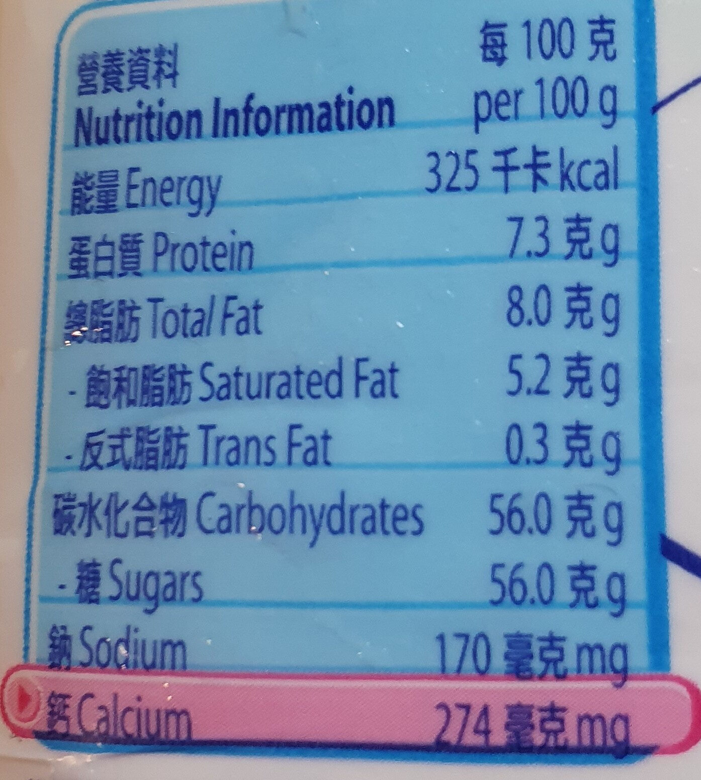 Full Cream Sweeten Condensed Milk - Informations nutritionnelles - en