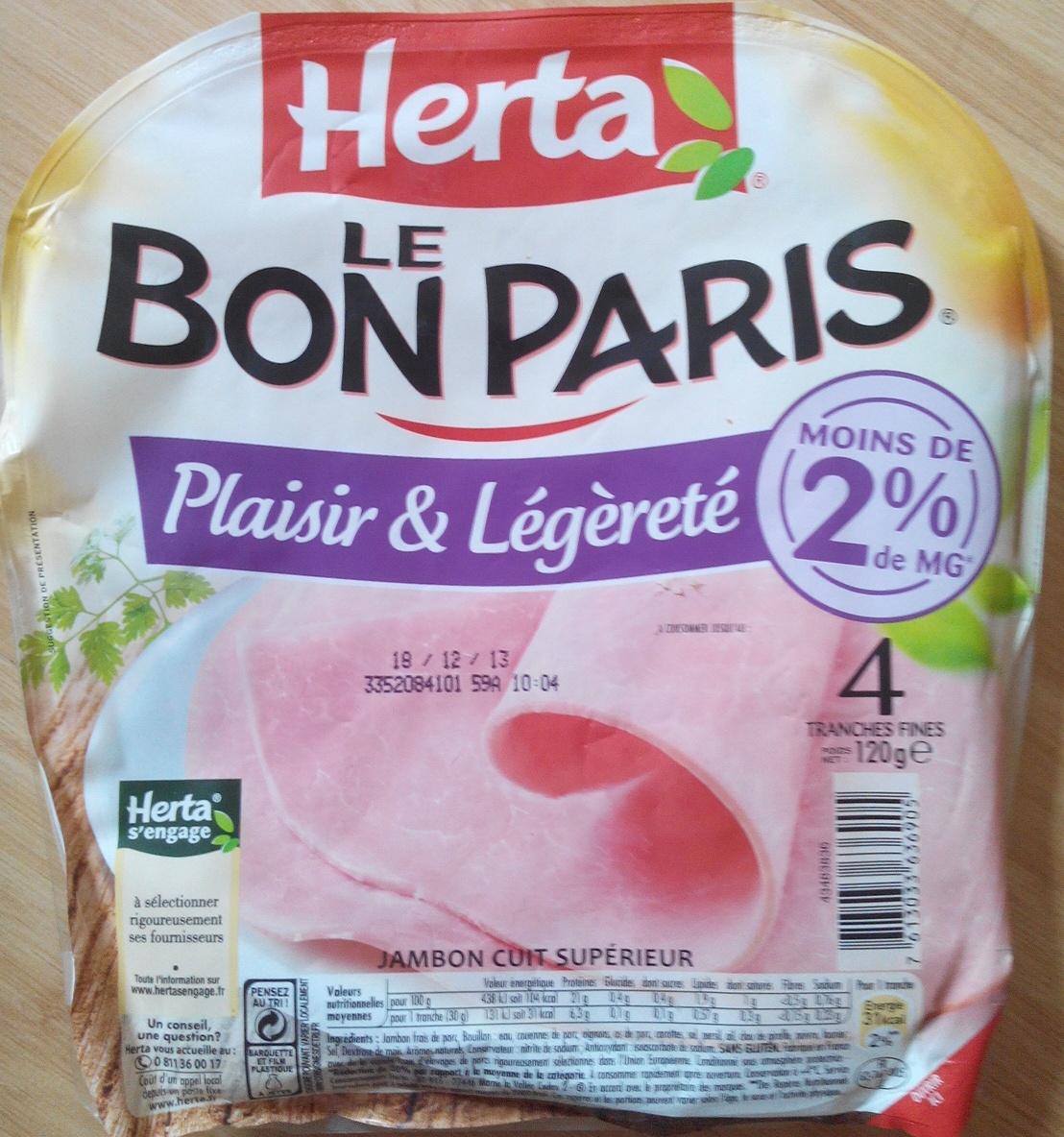 Le Bon Paris, Plaisir & Légèreté (4 Tranches Fines) - Product