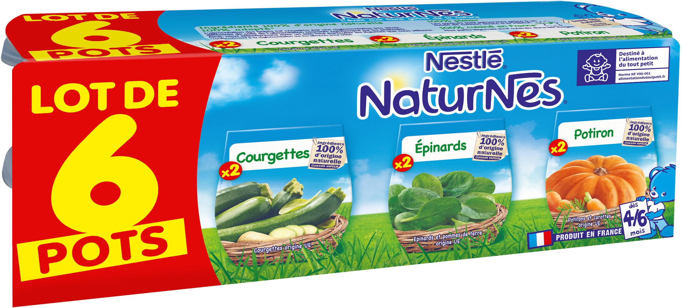 NESTLE NATURNES Petits Pots Bébé Courgettes + Epinards + Potiron -6x130g -Dès 4/6 mois - Prodotto - fr