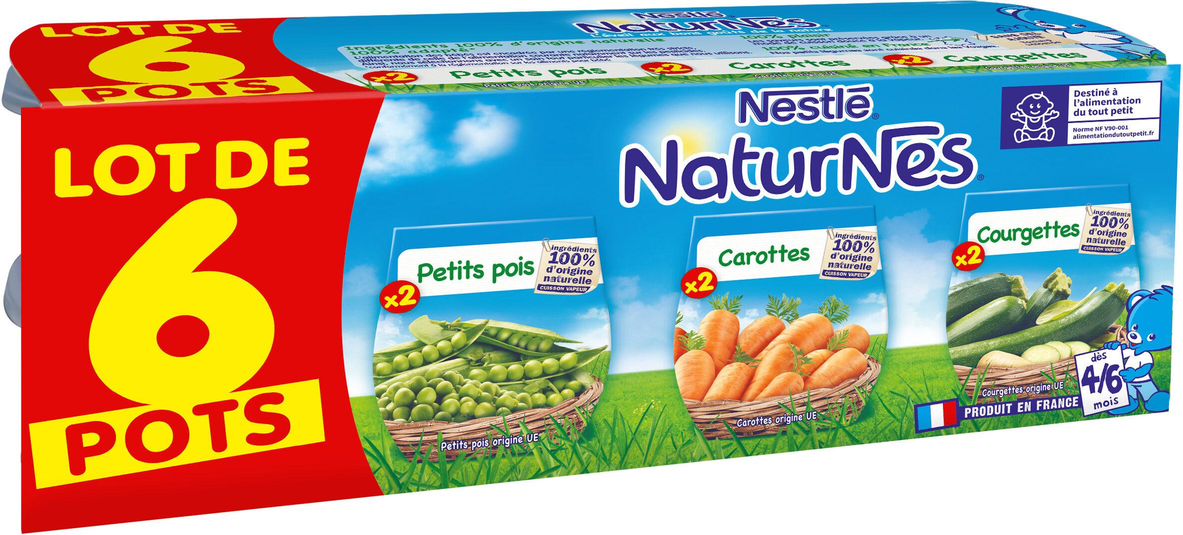 NESTLE NATURNES Petits Pots Bébé Petits Pois + Carottes + Courgettes -6x130g -Dès 4/6 mois - Prodotto - fr