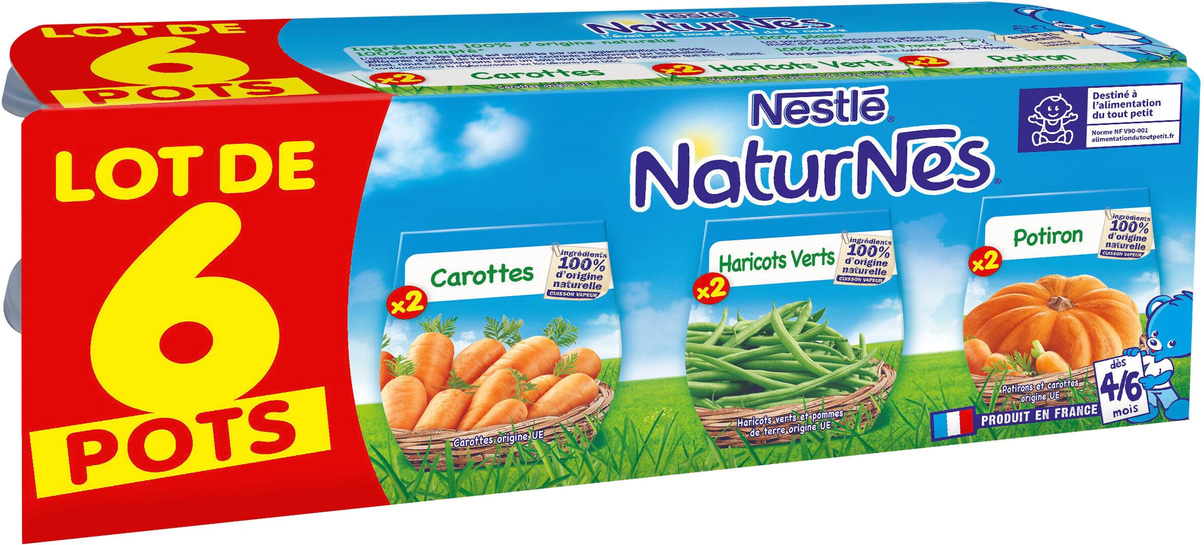 NESTLE NATURNES Petits Pots Bébé Carottes + Haricots Verts + Potiron -6x130g -Dès 4/6 mois - Prodotto - fr