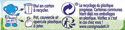 NESTLE NATURNES Petits Pots Bébé Carottes + Haricots Verts + Potiron -6x130g -Dès 4/6 mois - Istruzioni per il riciclaggio e/o informazioni sull'imballaggio - fr