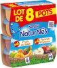 NESTLE NATURNES Compotes Bébé Fruits du Soleil + Pommes Pruneaux -8x130g -Dès 8 mois - Product