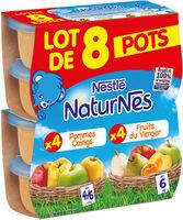 NESTLE NATURNES Compotes Bébé Fruits du Verger + Pommes Coings 8x130g - Prodotto - fr
