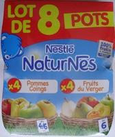 NaturNes Pommes Coings (x 4), Fruits du Verger (x 4) Lot de 8 Pots [Lot composé des articles 7613031552139 et 7613031552344] - Product