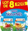 NESTLE NATURNES Compotes Bébé Pommes Poires + Pommes Bananes -8x130g -Dès 4/6 mois - Product