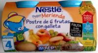 """Postre de frutas """"Nestlé"""" 6 frutas con galleta - Product - es"""