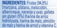 """Postre de frutas """"Nestlé"""" 6 frutas con galleta - Ingrediënten - es"""