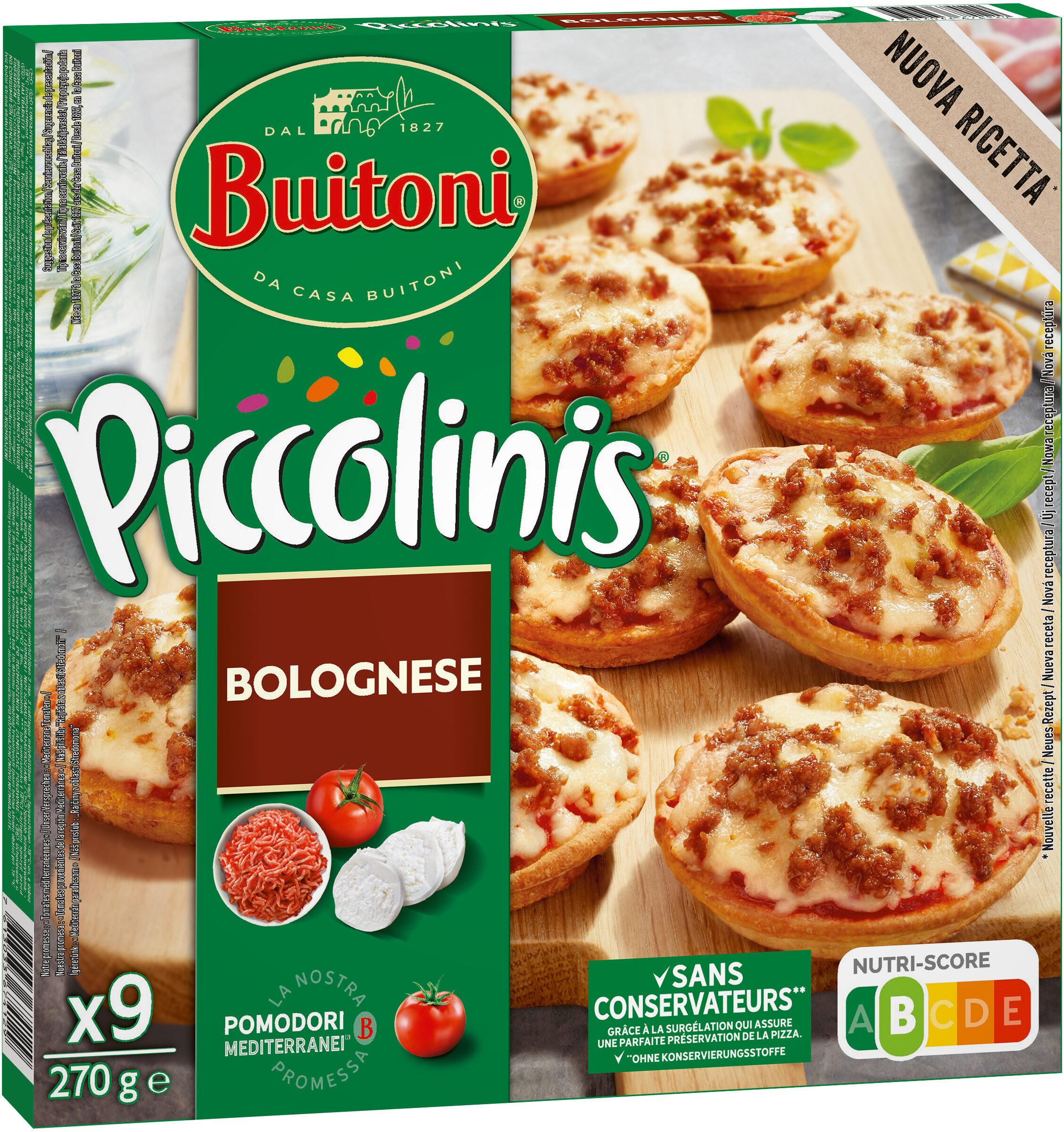 BUITONI PICCOLINIS mini-pizzas surgelées Bolognese 9x30g ( - Produit - fr