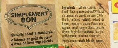 Bouillon Kub Bœuf (18 cubes) - Ingredients - fr