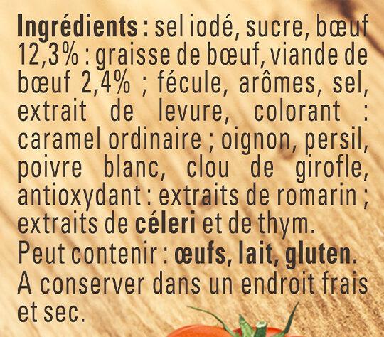MAGGI Bouillon KUB Bœuf - Ingredients - fr