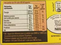 Bouillon Kub Bœuf (18 cubes) - Nutrition facts - fr