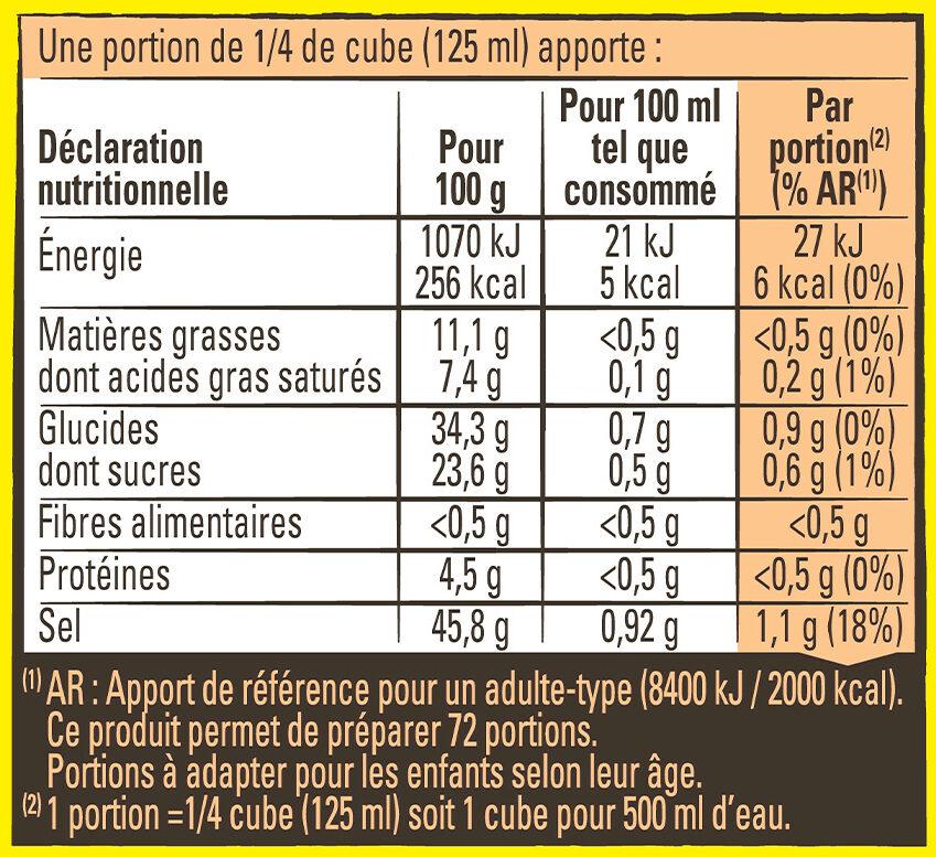 MAGGI Bouillon KUB Bœuf - Nutrition facts - fr