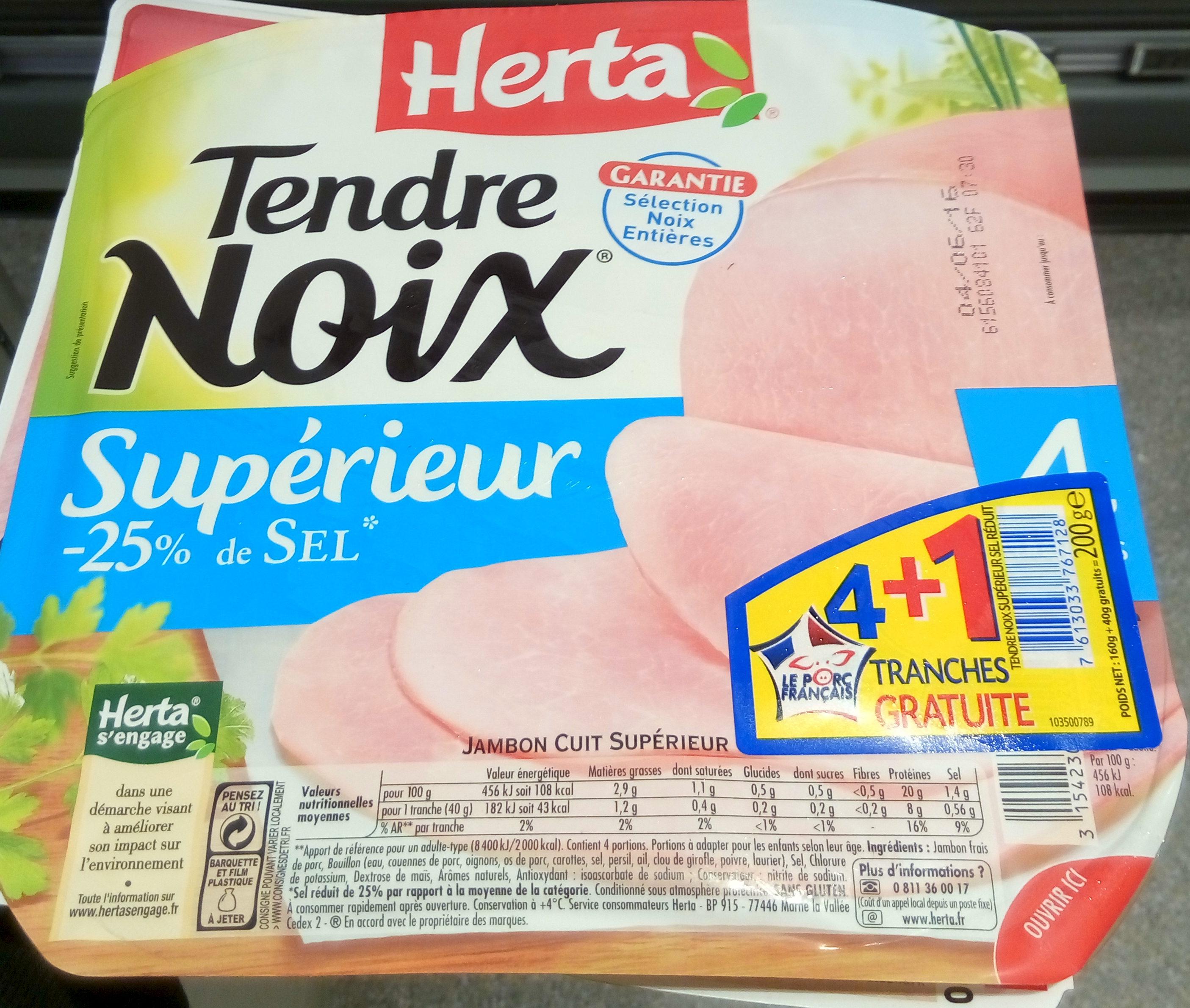 Tendre noix supérieur - Jambon cuit supérieur - Product - fr