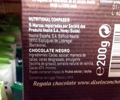 Chocolate negro para repostería Intenso 65% cacao - Product