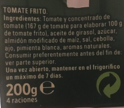 Tomate frito - Ingrediënten - fr