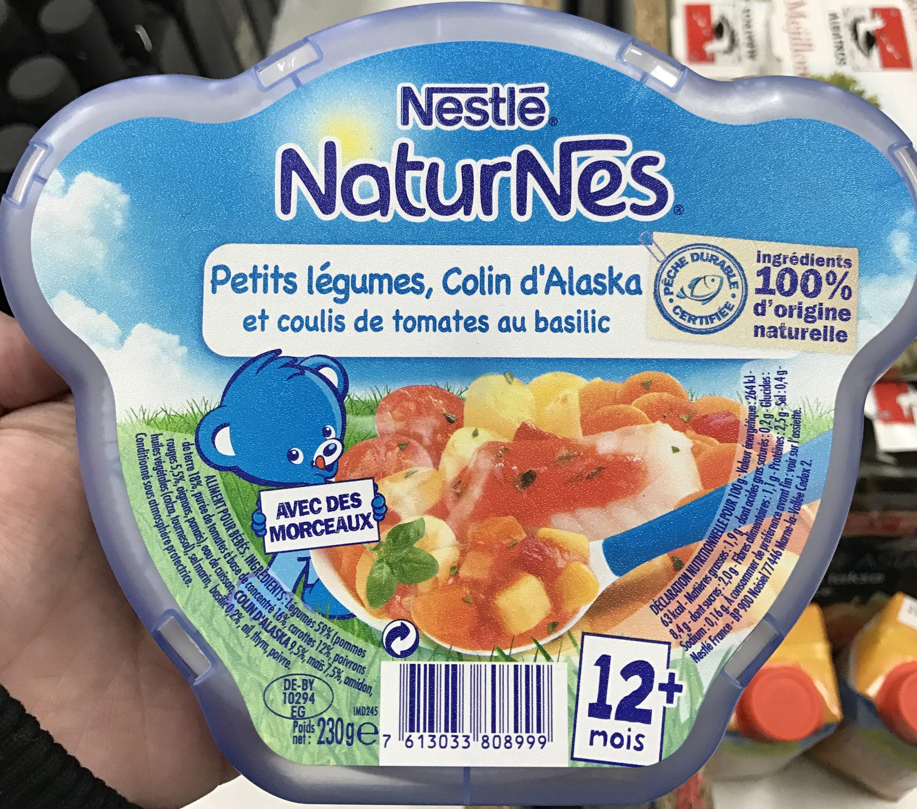 NaturNes Petits légumes, Colin d'Alaska et coulis de tomates au basilic - Prodotto - fr