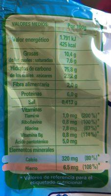Galletas infantiles tamaño mini desde meses - Ingredients - fr
