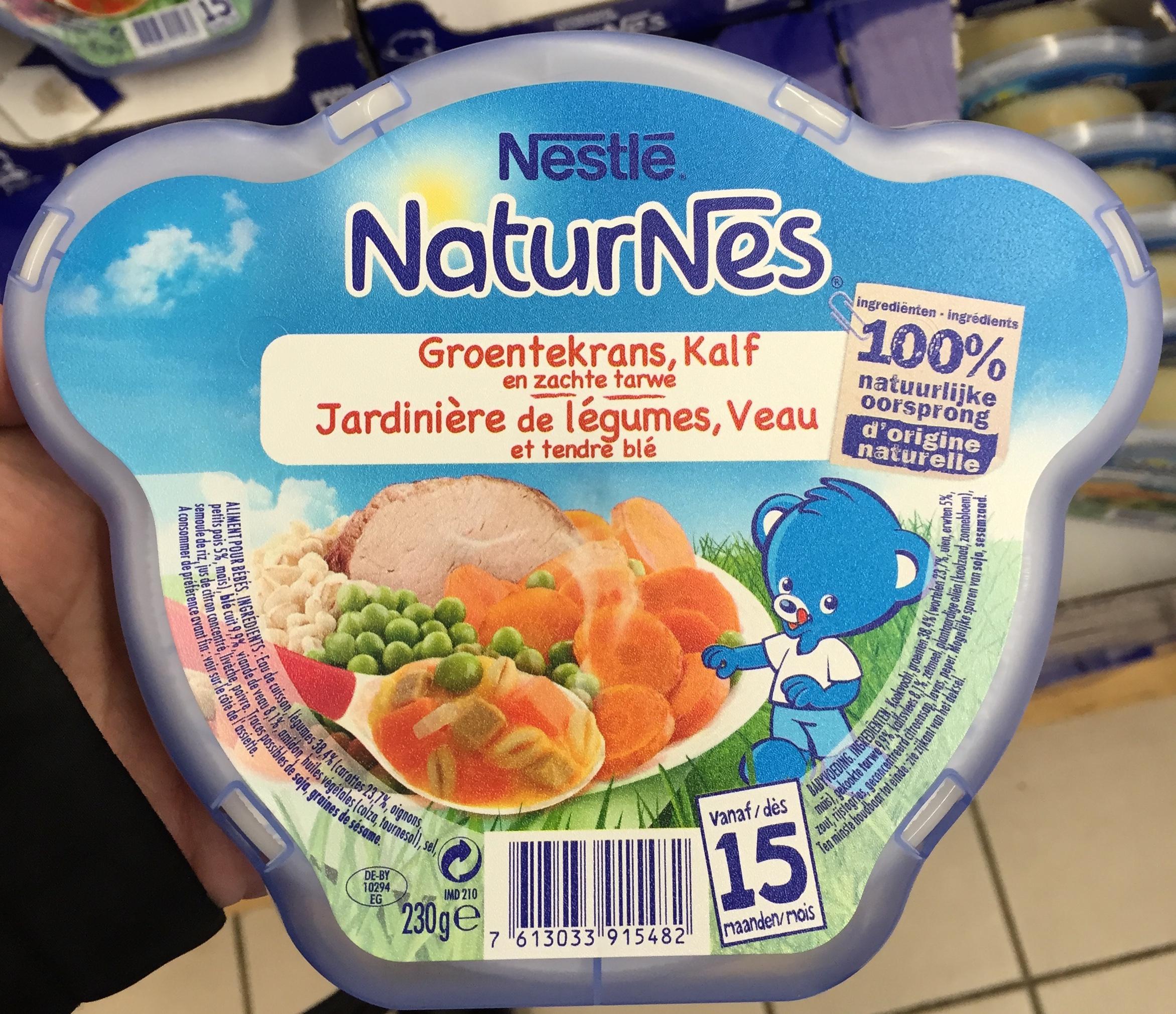 NaturNes Jardinière de légumes, Veau et tendre blé - Product