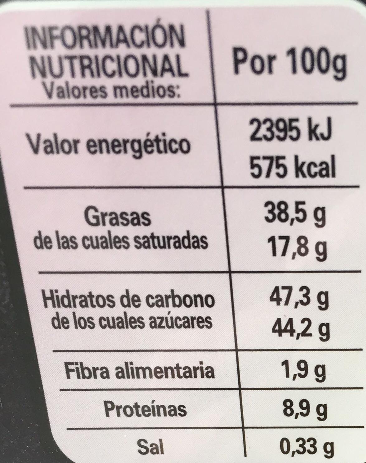 Crème Croquante - Información nutricional - es