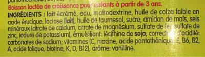 Lait de croissance - Ingrediënten - fr