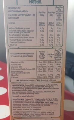 Fitness honing and amandes max - Voedingswaarden - fr