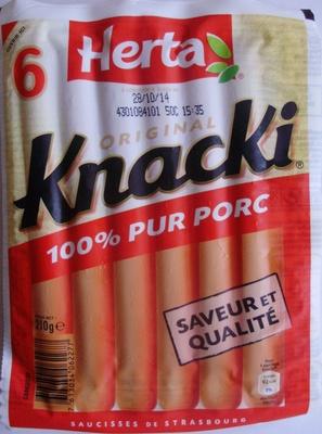6 Original Knacki, 100 % Pur Porc - Product