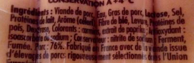 4 Original Knacki, 100 % Pur Porc - Ingrédients - fr