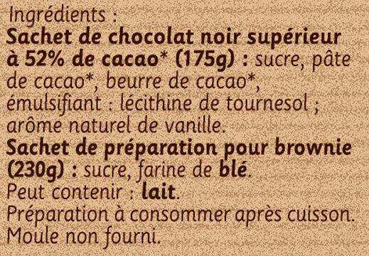 Préparation pour Brownie au Chocolat - Ingrediënten - fr