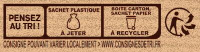Préparation pour Cookies au Chocolat - Instruction de recyclage et/ou informations d'emballage - fr