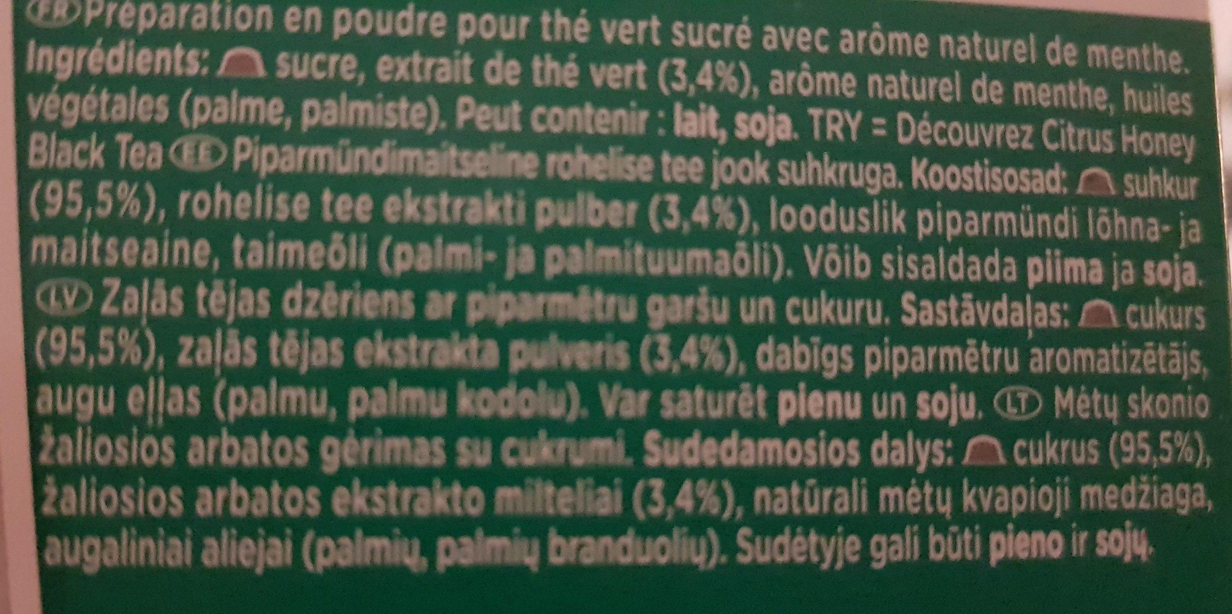 Dolce Gusto Marrakech Tea - Ingredients