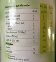 OptiFibre - Informations nutritionnelles - fr
