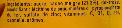 Nesquik - Family pack - Ingredients - fr
