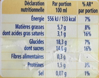 Les Sélections Parfum Crème Brulée - Nutrition facts - fr